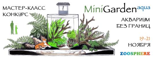 19-21 ноября 2015 года в рамках выставки ЗооСфера в Санкт-Петербурге состоялся конкурс по оформлению декоративных мини-садов Mini Garden AQUA!